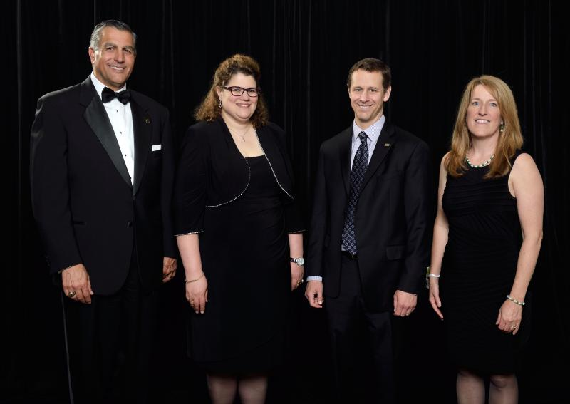 Left to Right Award Recipients: Dr. Philip L. Fioravante ( 2004 Distinguished Alumni Award and 2013 Claud R. Erickson Award )  Dr. Laura Genik, Eric Seger ( 2014 Distinguished Alumni Award ), Maura McDonald (2015 Distinguished Alumni Award)
