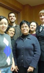 Front: Yun Wang, Vangie Alocilja, Lilia Fernando; Back: Yilun Luo, Lorele Trinidad, Michael Anderson, Edith Torres-Chavolla, and Barbara Cloutier