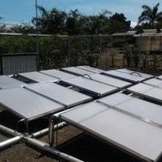 Photo of a group of solar panels