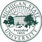 """Michigan State University Founded in 1855"" seal"
