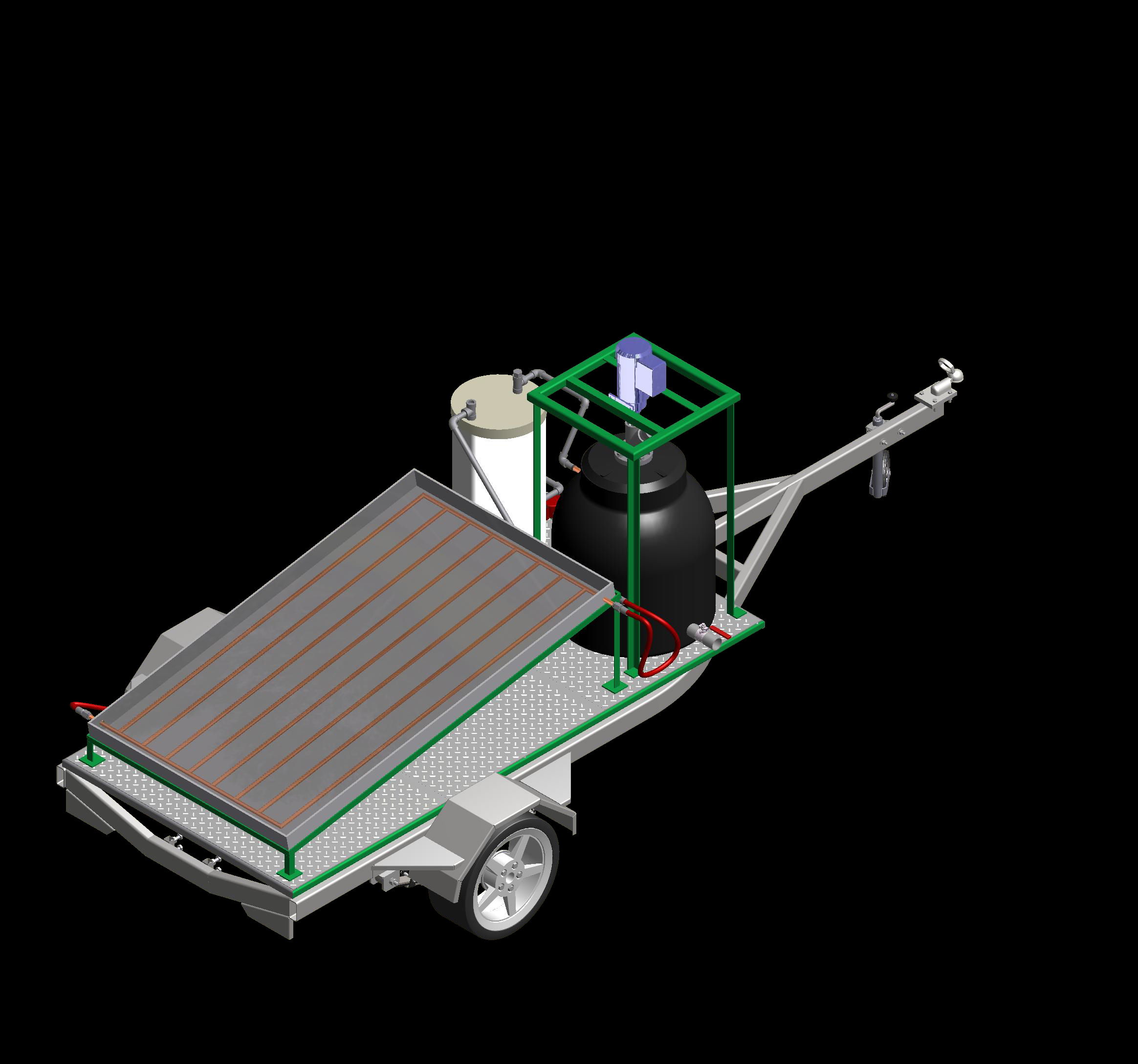 Artist rendering of the DOS ECPA portable solar biopower system