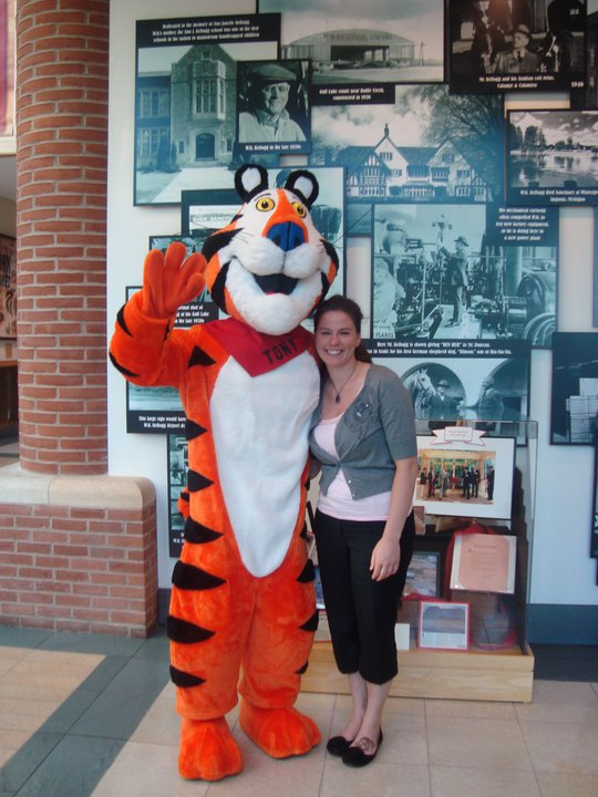 Adrienne Bunce with Tony the Tiger