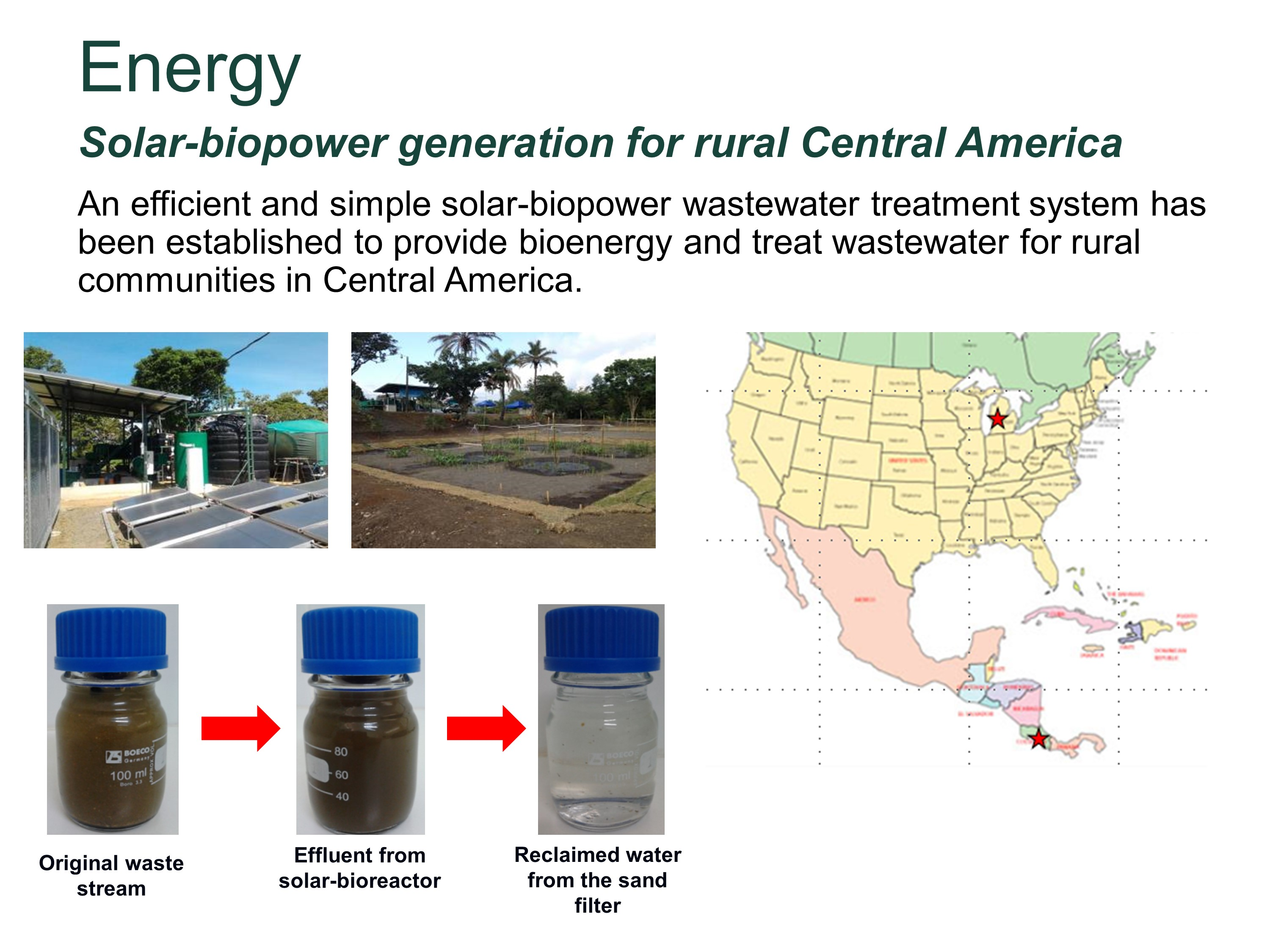 Solar-biopower generation for rural Central America