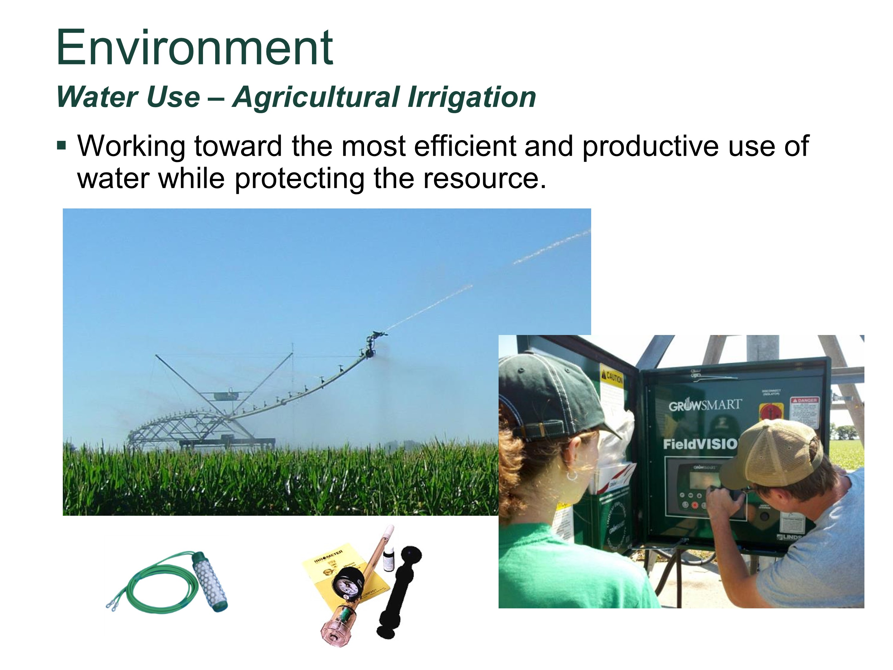 Water Use – Agricultural Irrigation