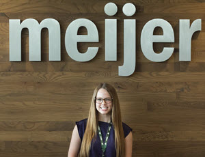 Photo of Emma H at her Meijer internship