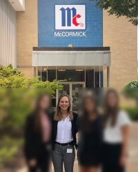 Photo of Katelyn S at her McCormick internship