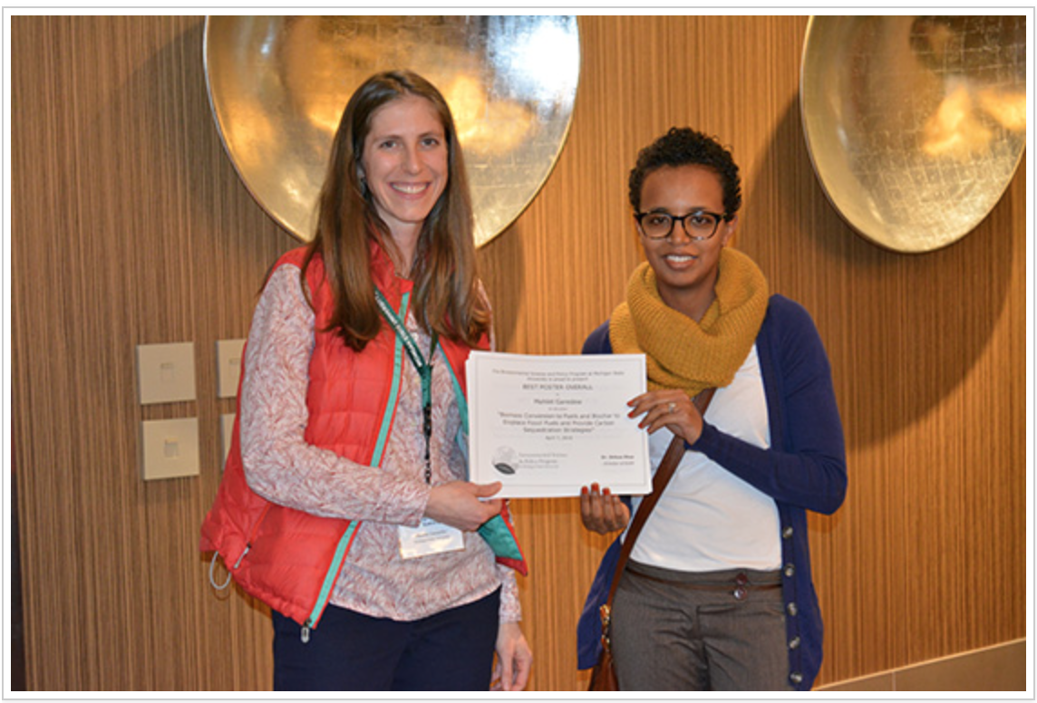 Photo of the recipient of Engineering Graduate Symposium Poster Award (1st Place)