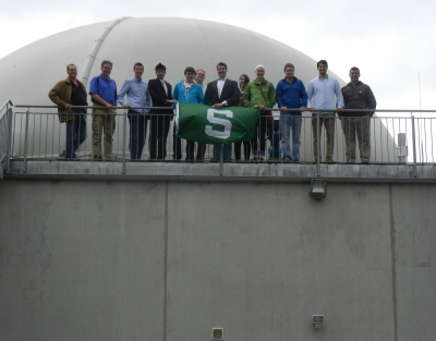 2014 Renewable Biobased Energy Systems group atop Anaerobic Digester - Germany, Bauer Farm