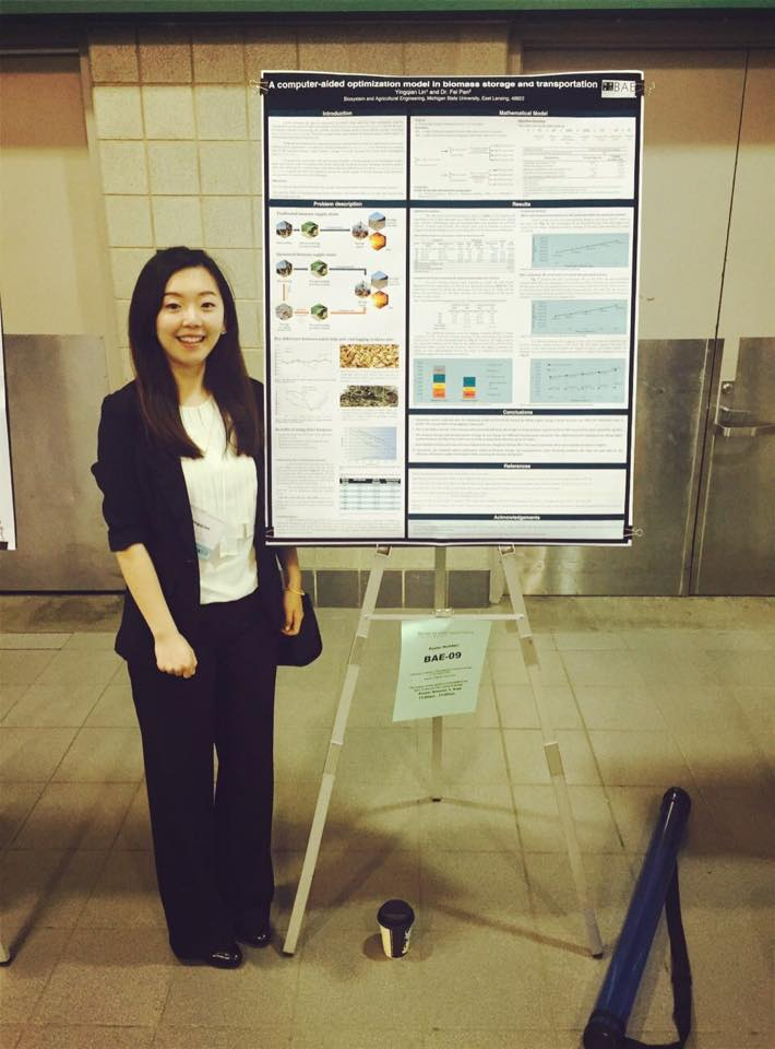 Photo of Yingqian Lin - College of Engineering Outstanding BE Graduate Student Fellowship Awardee