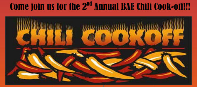 Image of Chili Cookoff - December 20, noon, BAE event