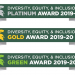 Diversity, Equity and Inclusion award badges