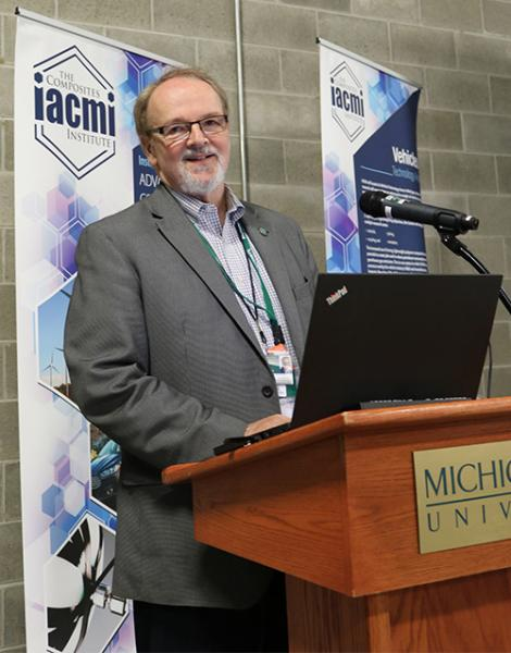 """The interest in composites is deep,"" said University Distinguished Professor of Chemical Engineering and Materials Science Lawrence Drzal, who is also the IACMI director of vehicle technology."