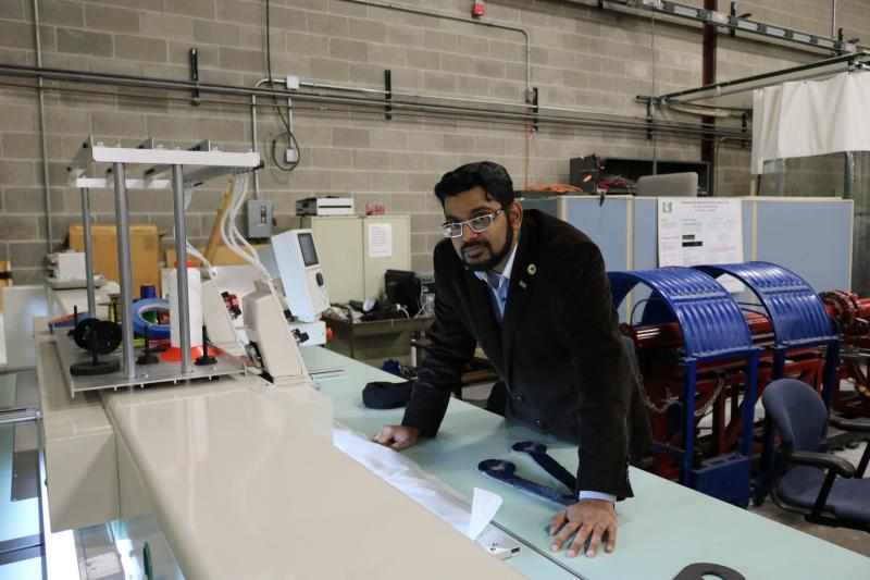 Mahmood Haq, assistant professor of civil and environmental engineering, is an expert on multi-material joining.