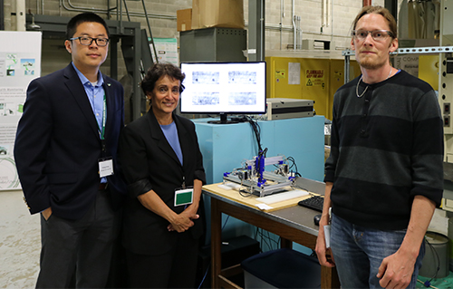Researchers from the Department of Electrical and Computer Engineering -- Yiming Deng, Lalita Udpa, and Anders Rosell -- presented research from the Nondestructive Evaluation Lab.