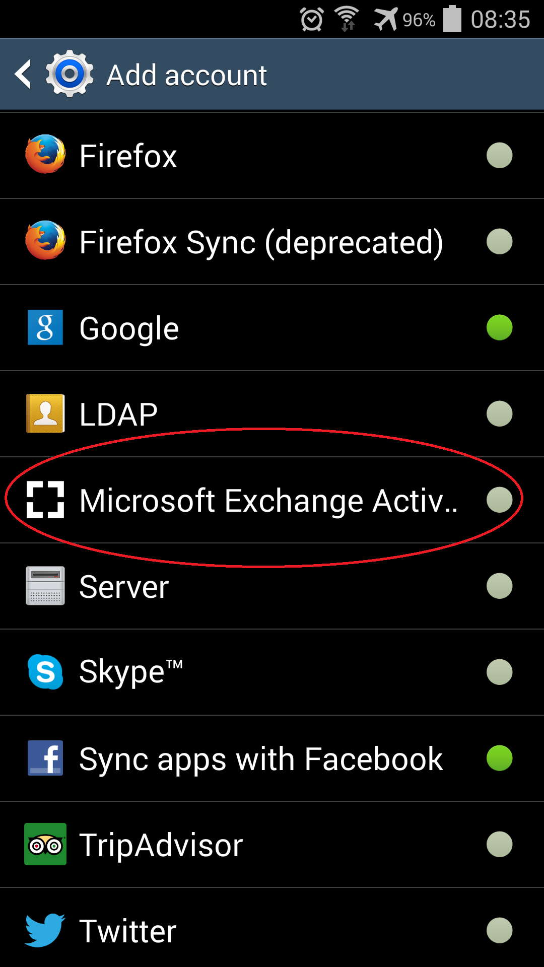 Phone Microsoft Exchange On Android Phone setup your zimbra account on an android phone or tablet division select microsoft exchange activesync for the type note earlier versions of this may be called corporat