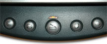 Photo of scanner power buttons
