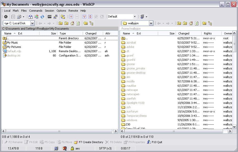 Using SFTP/SCP | DECS