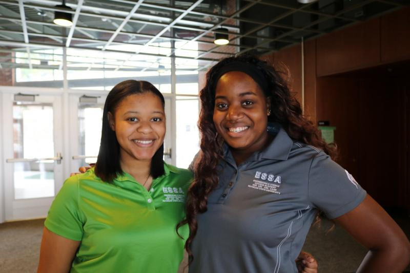 Shayna Evans, a senior in AES from Southfield, and Randi Dortch, a senior in electrical engineering from Chicago, are two of the Spartan Engineers who have benefited from ESSA. Randi has already accepted a job with United Airlines to be a cabin systems engineer when she graduates in May.