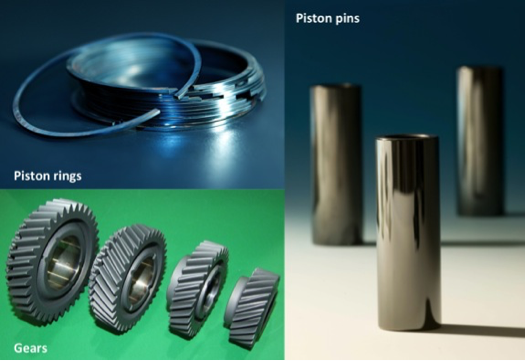 Variety of Diamor coated parts
