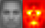 Pattern recognition images of a human face