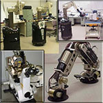 4 photos of robots or robotic arms