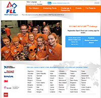 First Lego League - website screen shot
