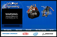 Discover Engineering - website screen shot
