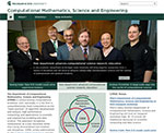 Screen shot of the Computational Math, Science & Engineering department website homepage