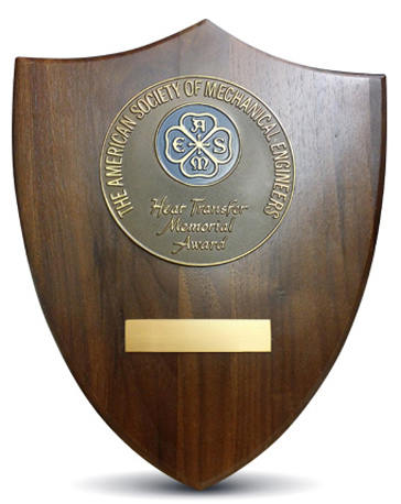 The ASME award plaque