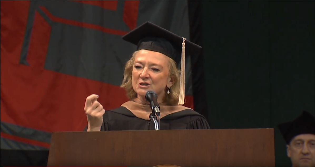 """We all have the opportunity to break boundaries in our own way."" -- Penny Wirsing ('83), 2019 Claud R. Erickson Distinguished Alumni Award recipient"