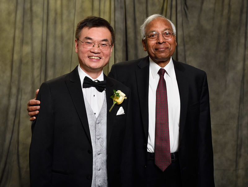 When MSU Engineering presented JC Mao with the Erickson Distinguished Alumni Award in 2018, he celebrated with his mentor and friend Anil Jain.