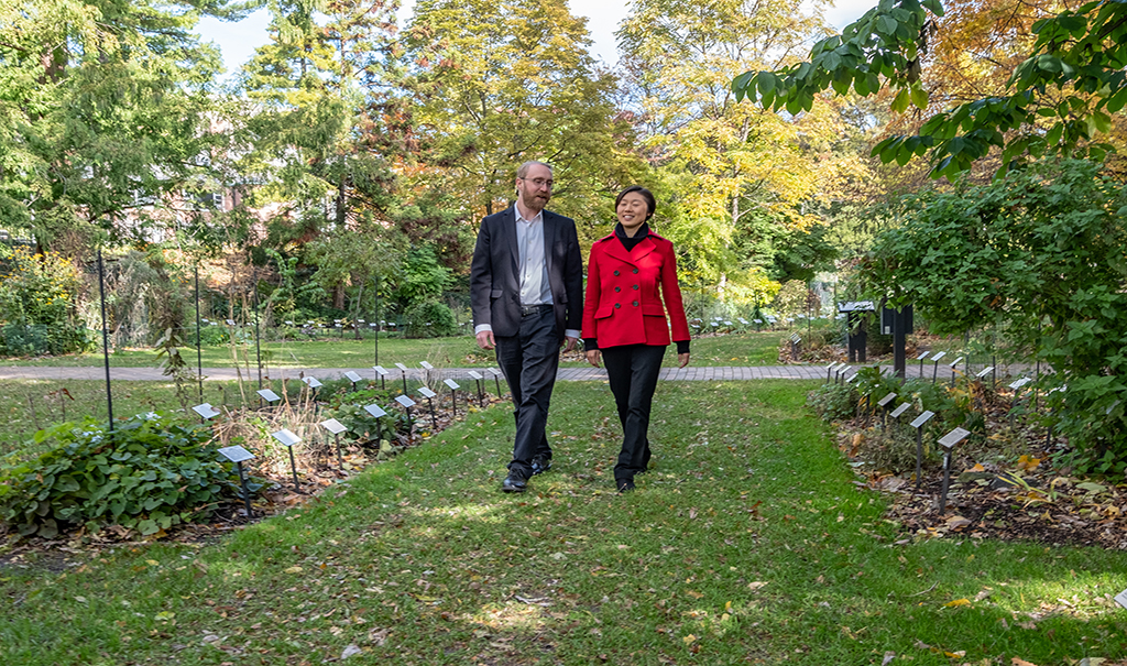 Chemical engineering and materials science researchers Richard and Sophia Lunt use CEO-style walks to spark ideas.