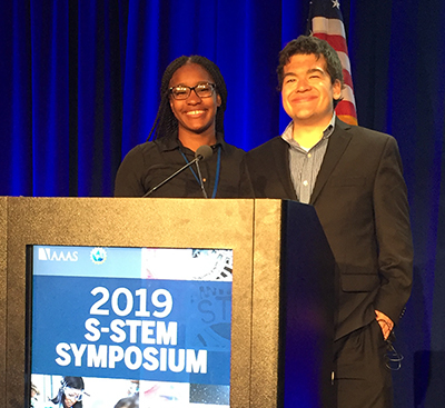Rolanda Hutson and Nicholas DiTommaso shared MSU STEM strategies during the national conference in Washington, D.C.