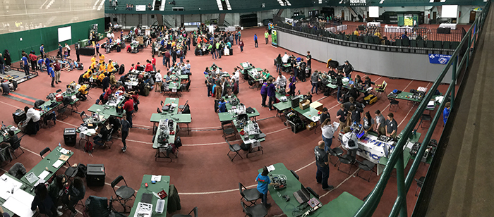 MSU will again host the Michigan VEX Robotics Championship in Jenison Field House.