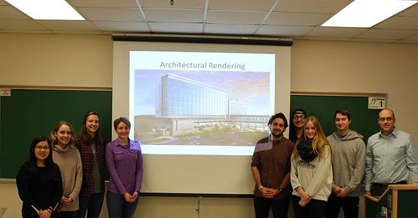 MSU civil and environmental engineering students are learning from the intricate infrastructure details of McLaren's newest hospital construction thanks to a real-world capstone project.