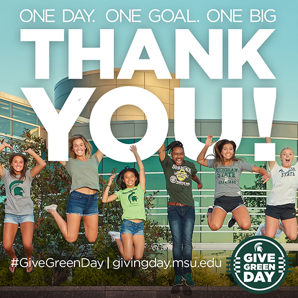The College of Engineering received more than $23,000 on 2018 Give Green Day -- thank you!