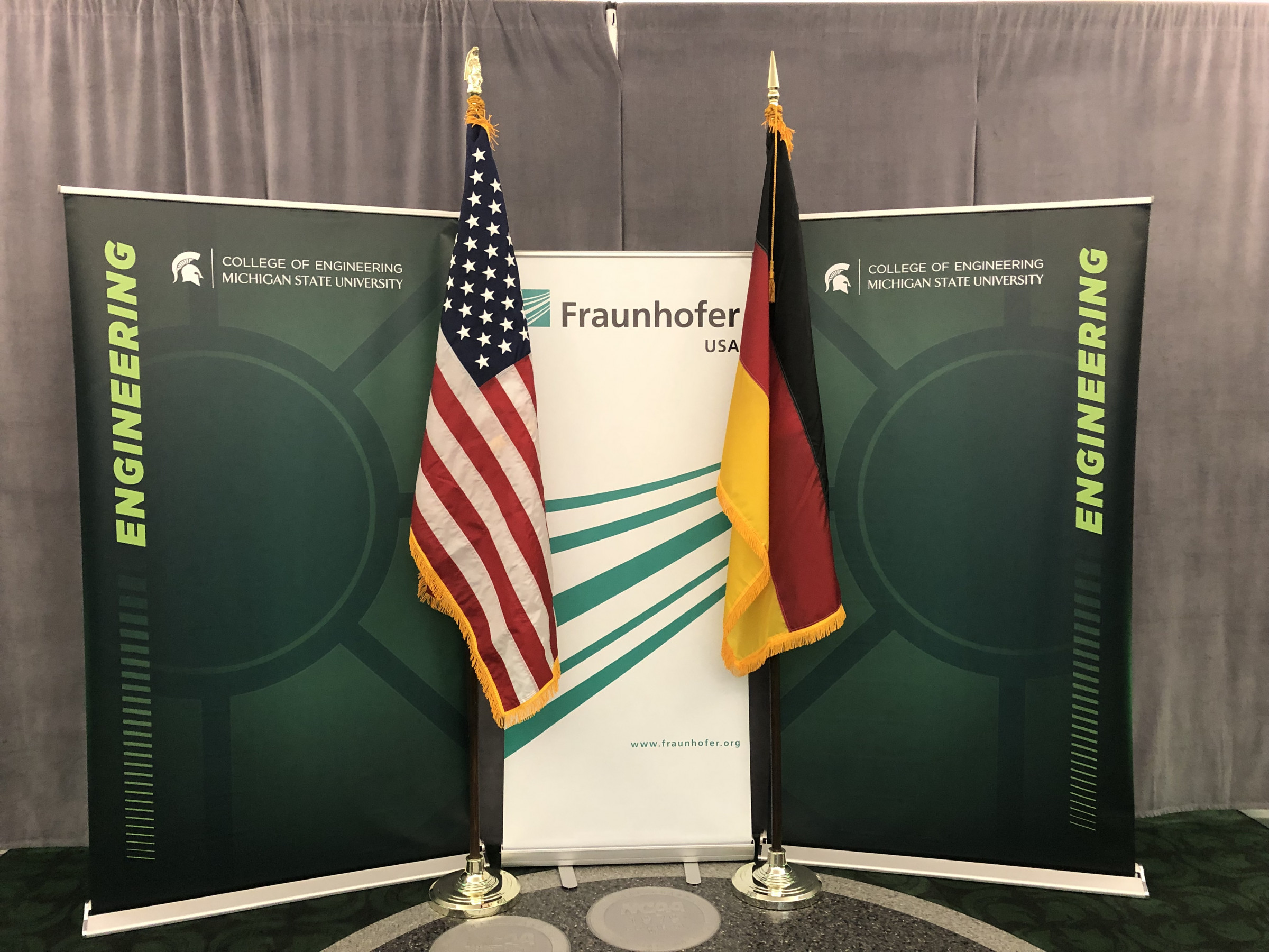 The presentation of an honorary degree to Reimund Neugebauer was a perfect setting to celebrate MSU's 15-year partnership with Fraunhofer USA.