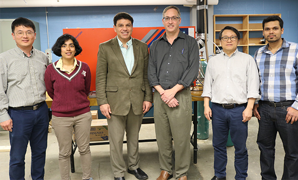 Mechanical engineers Haseung Chung, Rohini Balachandran, James Klausner, Andre Benard, Patrick Kwon, and Himanshu Sahasbuhdre have teamed up to improve high-efficiency power generation.