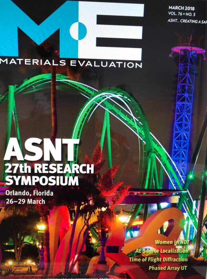 Materials Evaluation is the scientific journal of the American Society for Nondestructive Testing.