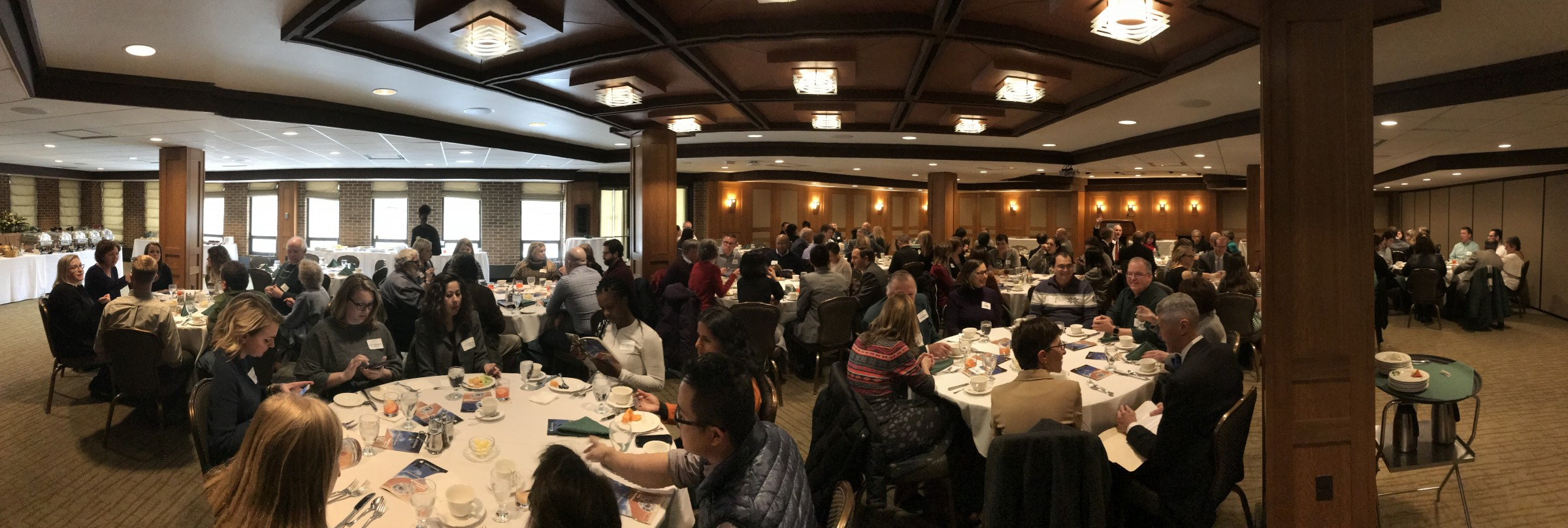 More than 100 members of the College of Engineering attended this year's Engineering Awards Luncheon at the University Club. The event was emceed by Associate Dean Tom Voice.