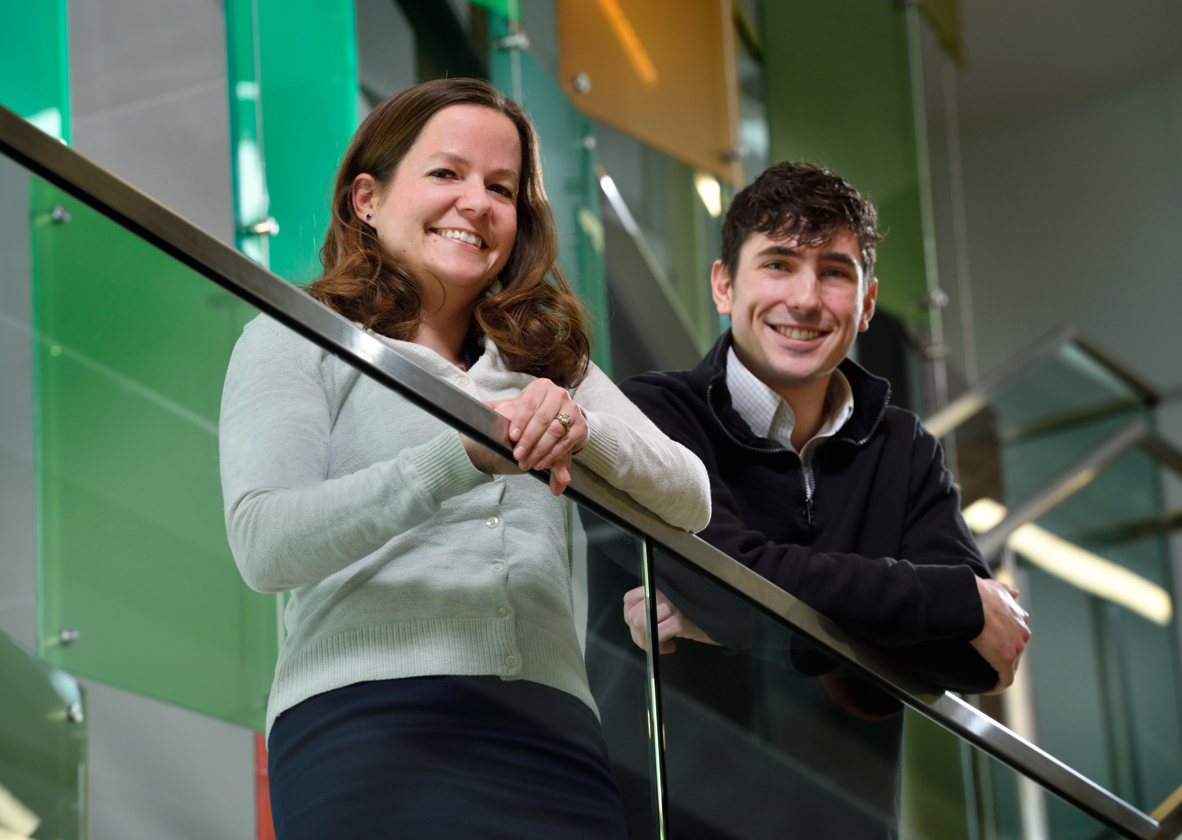 Photo of Joseph Salatino (right) and his advisor, Dr. Erin Purcell (left)