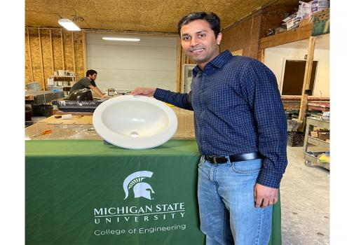 MSU chemical engineer developing styrene-free bio renewable resins.