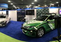 National and international media came to the MSU-University of Michigan exhibit at AutoMobili-D at the 2019 NAIAS in Detroit in January to hear about research and technologies in autonomous vehicles.
