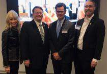 Donnie Haye, Dean Leo Kempel, Dan McNulty and Richard Lunt gathered in New York City for a Spartan Tech Talk on Feb. 7.