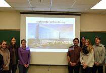 MSU civil and environmental engineering students using McLaren's new hospital construction for hands-on learning.