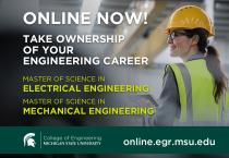 MSU Engineering launches two online master's degrees for electrical and mechanical engineers