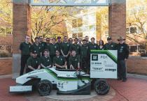 Photo of the 2019 MSU Formula Racing Team and car