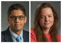 ​​​​​​​MSU recognizes Yadu Pokhrel and Erin Purcell for early career devotion and success.