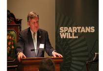 Peter Ragauss ('80) hosts an MSU event in Texas focused on next-gen health care innovators.