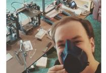 Mechanical engineering student Ryan Koschay 3D prints 1,200 face shields and face masks.